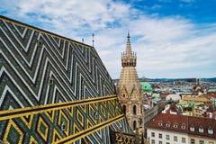 Vienna dalla st Stephens Cathedral fotografie stock libere da diritti
