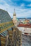 Vienna dalla st Stephens Cathedral fotografia stock