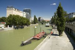 Vienna, Danube canal, Austria Royalty Free Stock Photo