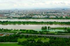 Vienna Danubio Immagini Stock Libere da Diritti