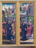 Vienna - denunci del pannello di Gesù dall'altare Fotografie Stock