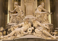 Vienna - Detail of Pallas Athena fountain Royalty Free Stock Images