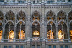 Vienna - detail from town-hall facade Stock Image