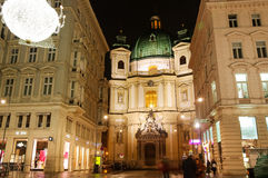 Vienna - famous Graben stre Royalty Free Stock Photo