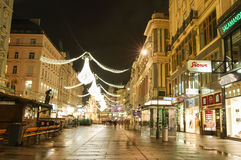 Vienna - famous Graben stre Royalty Free Stock Photography