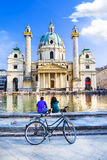 Vienna - famous St. Charle's church Royalty Free Stock Images