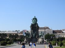 Vienna is the federal capital and largest city of Austria. Empress Maria Theresia monument stock photos