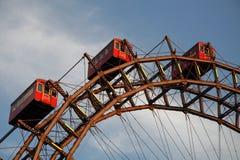 Vienna ferris wheel. In Prater, Austria stock images