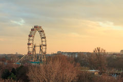 Vienna ferris wheel at sunset Stock Photos