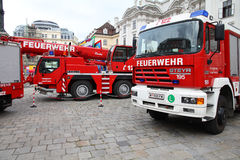 Vienna Fire Fighters Royalty Free Stock Photography