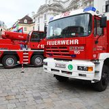 Vienna fire fighters Royalty Free Stock Image