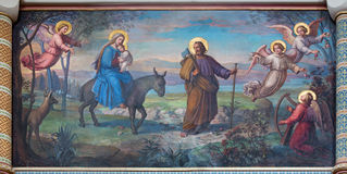 Vienna - Flight of holy family to Egypt Royalty Free Stock Photography