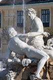 Vienna - The Fountain in the Forecourt Schonbrunn palace Royalty Free Stock Photo