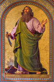 Vienna - Fresco of Abraham by Joseph Schonman from year 1857 in Altlerchenfelder church Stock Images