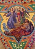 Vienna - Fresco of Dream of Jacob in Altlerchenfelder church Stock Photos