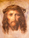 Vienna - Fresco of Jesus Christ with crown of thorns from 19. cent. in Altlerchenfelder church Stock Photography