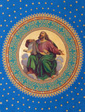 Vienna -  Fresco of one of the four big prophets from year 1855 by Joseph Schonman on the ceiling of side nave in Altlerchenfelder. Church on July 27, 2013 Stock Image