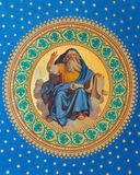 Vienna - Fresco of one of the four big prophets from year 1855 by Joseph Schonman on the ceiling of side nave in Altlerchenfelder. Church on July 27, 2013 Stock Photos