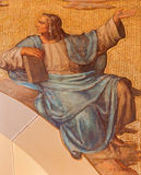 Vienna - The fresco of prophet Daniel Royalty Free Stock Photo
