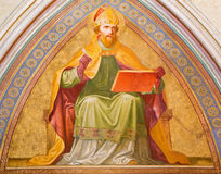 Vienna - Fresco of Saint Augustine from vestibule of monastery church in Klosterneuburg stock images
