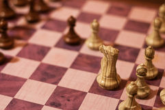 Vienna Game in chess. One of the typical strategy openings in chess - Vienna game Stock Images