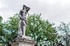 Vienna garden statue Royalty Free Stock Photos