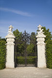 Vienna - gate of Belvedere palace Stock Image