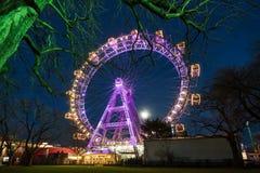 Vienna Giant Wheel Illuminated Stock Image