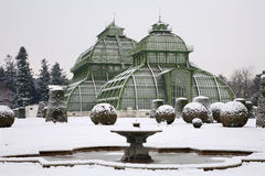 Vienna - glasshouse from Schonbrunn in winter Royalty Free Stock Image