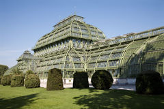 Vienna - glasshouse in teh park of Schonbrunn Stock Image