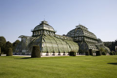 Vienna - glasshouse in teh park of Schonbrunn Royalty Free Stock Photos
