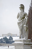 Vienna - Gloriette in  Schonbrunn palace and statue Royalty Free Stock Photos