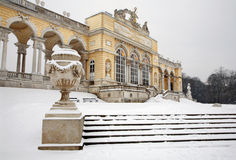 Vienna - Gloriette in Schonbrunn palace in winter Royalty Free Stock Photos