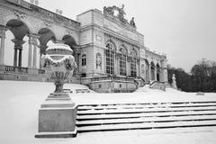 Vienna - Gloriette from Schonbrunn palace in winter Stock Image