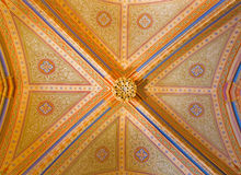 Vienna - Gothic ceiling with the frescoes from vestibule of monastery church in Klosterneuburg Stock Image