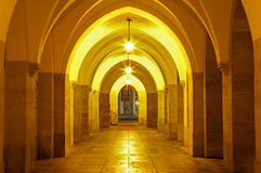 Vienna - Gothic external corridor of Minoriten church Royalty Free Stock Image