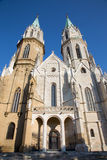Vienna - Gothic west facade of monastery church in Klosterneuburg Royalty Free Stock Image
