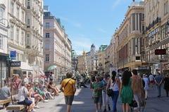 Vienna Graben street Stock Images