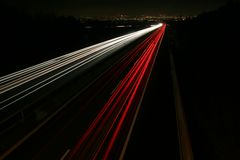 Vienna Highway. Highwayshot at night near vienna Royalty Free Stock Photography