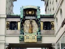 Vienna - Historic clock. In Wien - austria Royalty Free Stock Photography