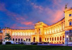 Vienna Hofburg Imperial Palace at night, - Austria Stock Photo