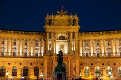 Vienna Hofburg Imperial Palace at night, - Austria Royalty Free Stock Images