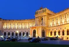 Vienna Hofburg Imperial Palace at night, - Austria Royalty Free Stock Photos