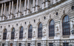 Vienna Hofburg Imperial Palace, The wall and pillar and scuptures in Heldenplatz.Vienna, Austria Stock Image