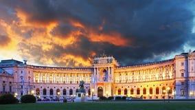 Vienna Hofburg palace. At sunrise Stock Images