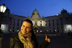Vienna Hofburg Tourist Woman Royalty Free Stock Photo