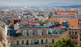 Vienna houses roofs Stock Photography