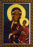 Vienna - Icon of black Madonna from side altar of Altlerchenfelder church Royalty Free Stock Images