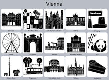 Vienna icons Stock Photos