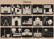 Vienna icons Royalty Free Stock Photo